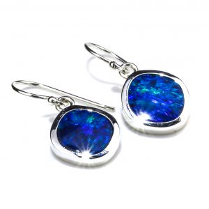 Contemporary Australian Opal Earrings