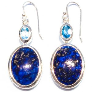 Blue Topaz and Lapis Lazuli Earrings