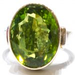 Peridot in Handmade Gold & Silver Ring