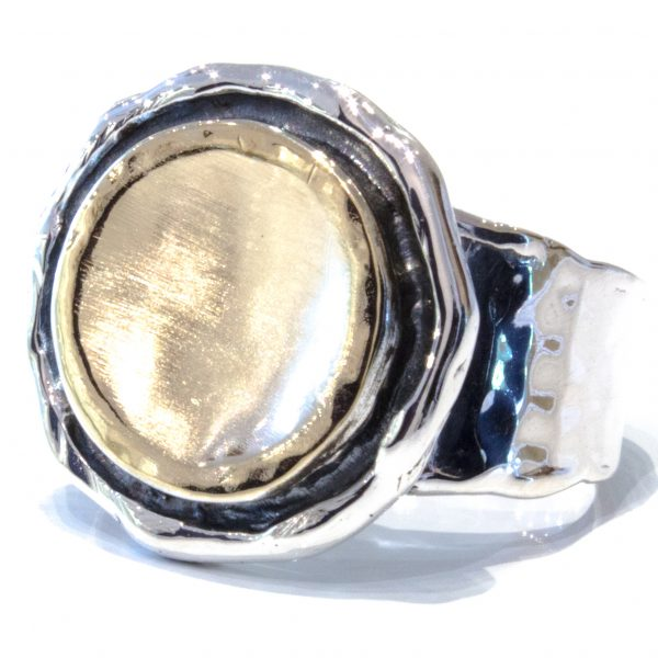 Gold and Silver Ring Israeli Made