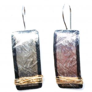 Contemporary Silver and Gold Earrings