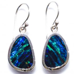 Bespoke Silver Earrings with Australian Opals