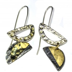 Silver and Gold Handmade Earrings