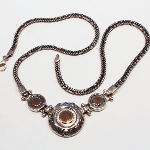Silver and Gold Unique Necklace