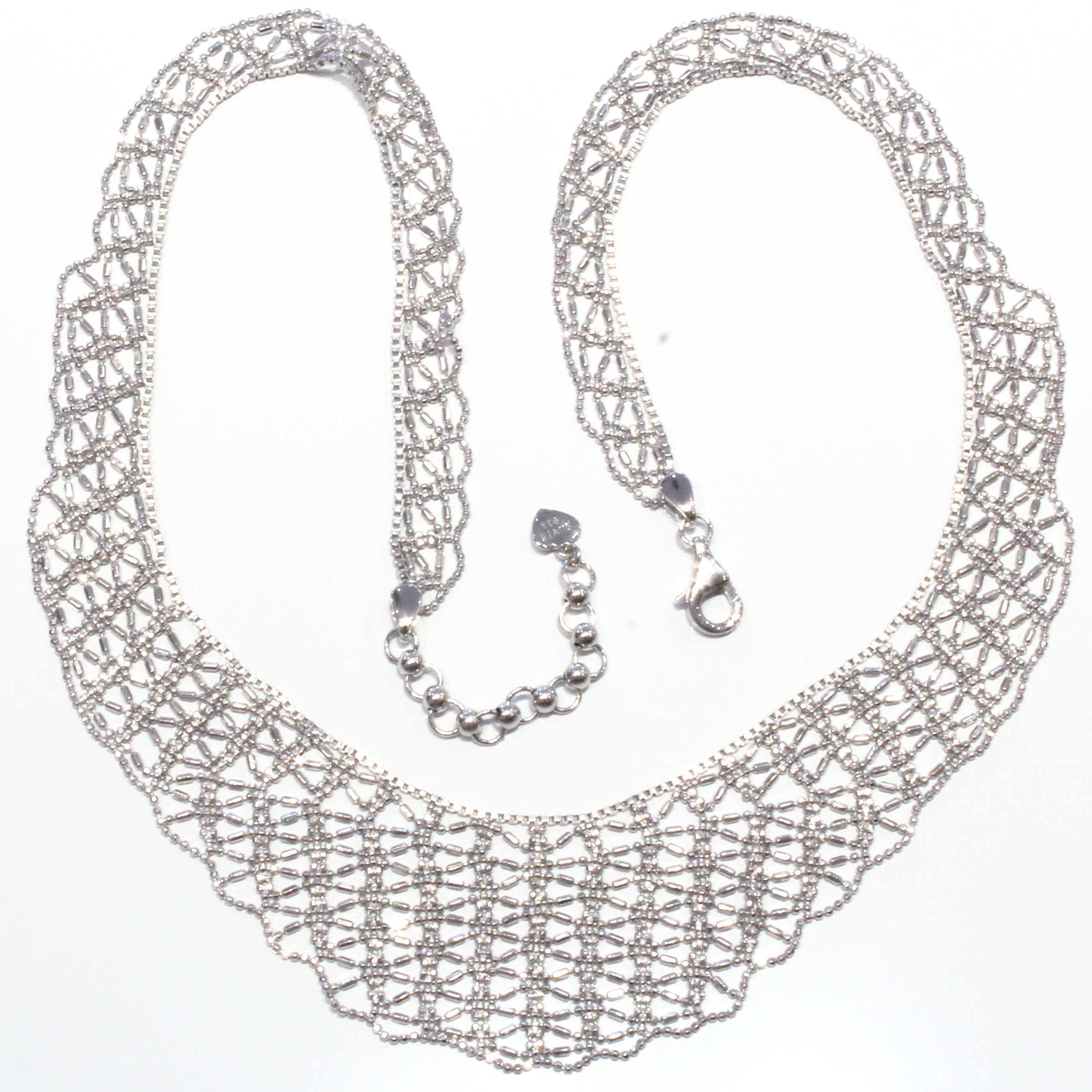 Mesh Italian Silver Necklace