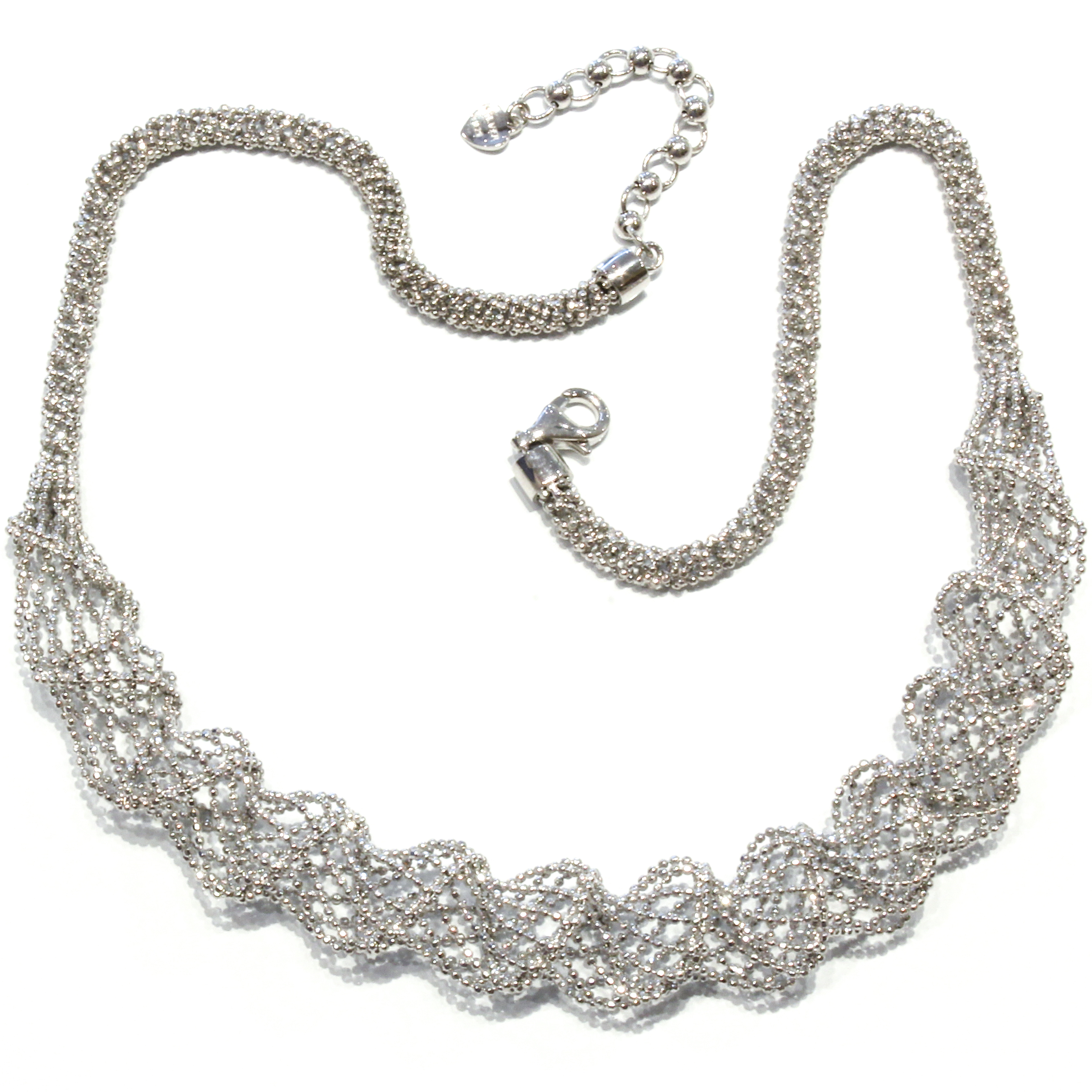 Unique Silver Mesh Necklace