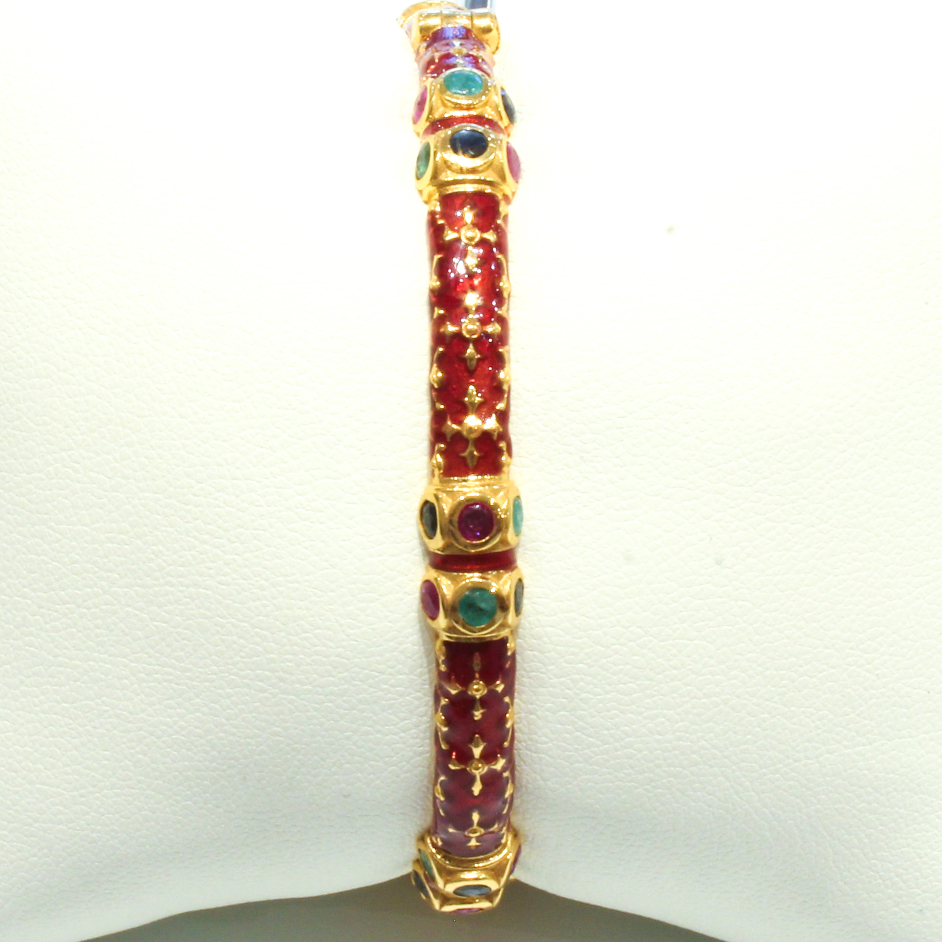 Enamel and Precious Stones Bangle