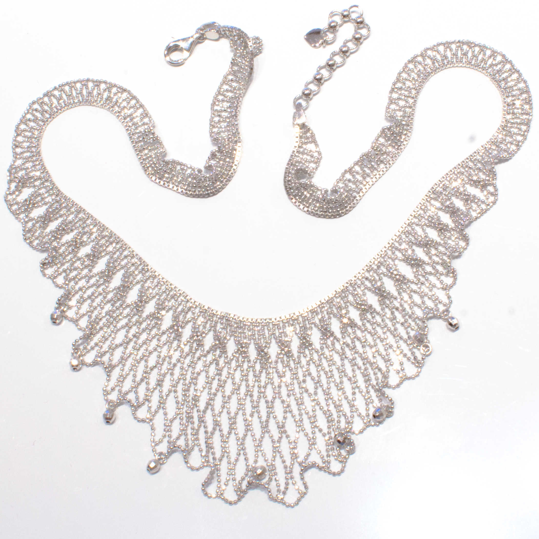 Sterling Silver Mesh Necklace
