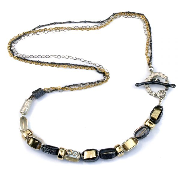 Unique and Ethnic Gold and Silver Necklace