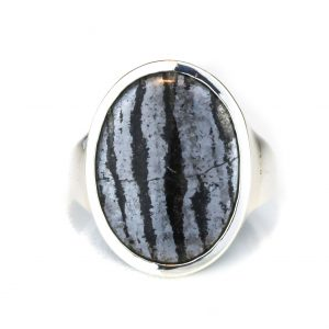 Banded Hematite Handmade Silver Ring