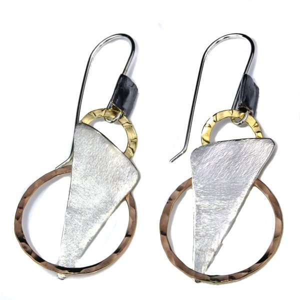 Gold and Silver Statement Earrings