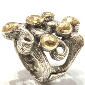 Organic Handmade Gold and Silver Ring