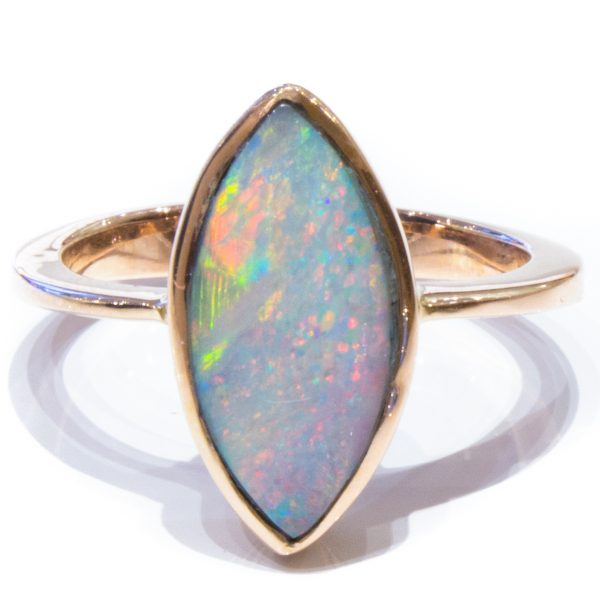Solid Opal Handmade Gold Ring