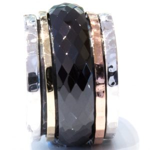 Israeli Spinning Ring in Gold and Silver