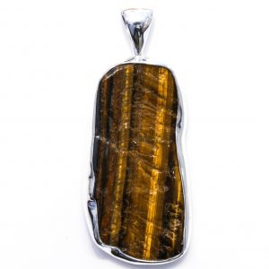 Double Sided Contemporary Tiger Eye Pendant