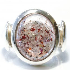 Handmade Sterling Silver and Red Hematite Ring