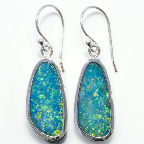 Australian Opal Silver Earrings