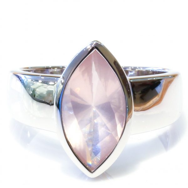Rose Quartz Handmade Silver Ring
