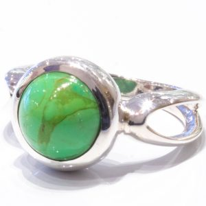 Green Turquoise Handmade Silver Ring