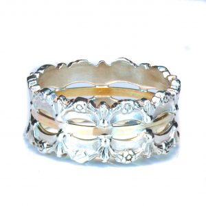 Gold and Silver Israeli Made Ring
