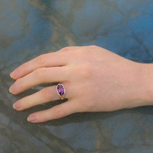 Faceted Amethyst Gold Ring